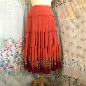 Tommy Bahama Silk Boho Maxi Skirt
